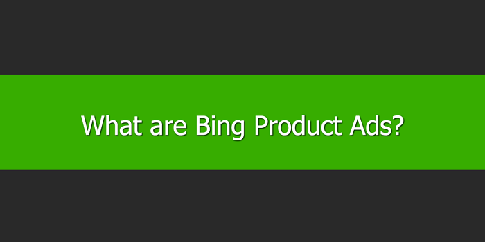 What are Bing Product Ads