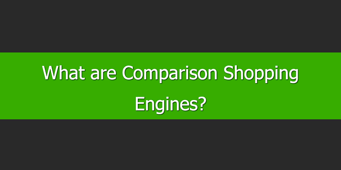What are Comparison Shopping Engines
