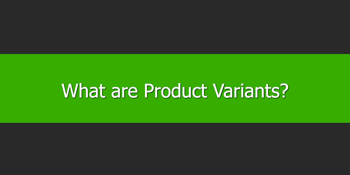 What are Product Variants