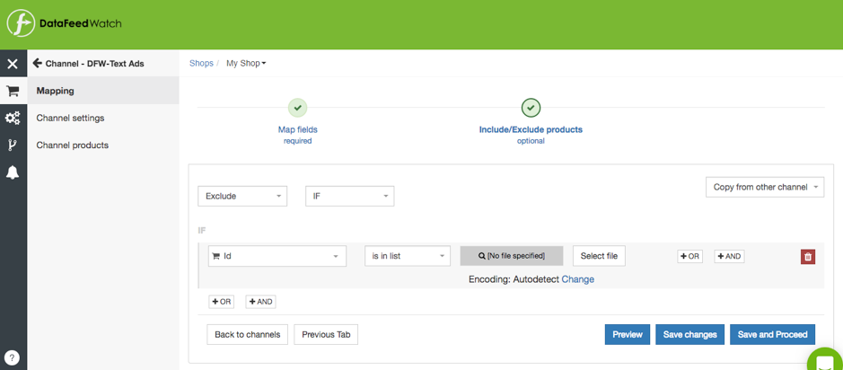 DataFeedWatch Price Monitoring Account