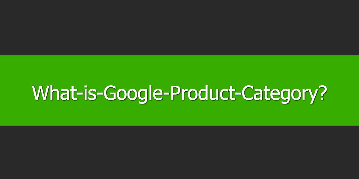 What is Google Product Category?